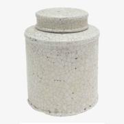 Made Ile Pot céramique blanc 2662201 QQ - Décoration - Ile d'Oléron Ø 19 cm - H. 23 cm