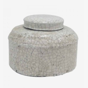 Made Ile Pot céramique blanc 2662203 QQ - Décoration - Ile d'Oléron Ø 20 cm - H. 14 cm