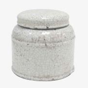 Made Ile Pot céramique blanc 2662205 QQ - Décoration - Ile d'Oléron Ø 20 cm - H. 18 cm