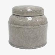 Made Ile Pot céramique taupe 2662305 - Décoration - Ile d'Oléron Ø 20 cm - H. 18 cm