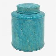 Made Ile Pot céramique turquoise 2662601 - Décoration - Ile d'Oléron Ø 19 cm - H. 23 cm