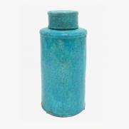 Made Ile pot céramique turquoise 2662602 QQ - Décoration - Ile d'Oléron Ø 17 cm - H. 36 cm