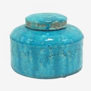 Made Ile Pot céramique turquoise 2662603 QQ - Décoration - Ile d'Oléron Ø 20 cm - H. 14 cm