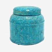 Made Ile Pot céramique turquoise 2662605 QQ - Décoration - Ile d'Oléron Ø 20 cm - H. 18 cm