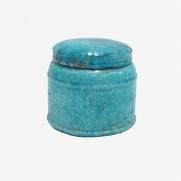 Made Ile Pot céramique turquoise 2662606 QQ - Décoration - Ile d'Oléron Ø 16 cm - H. 14 cm