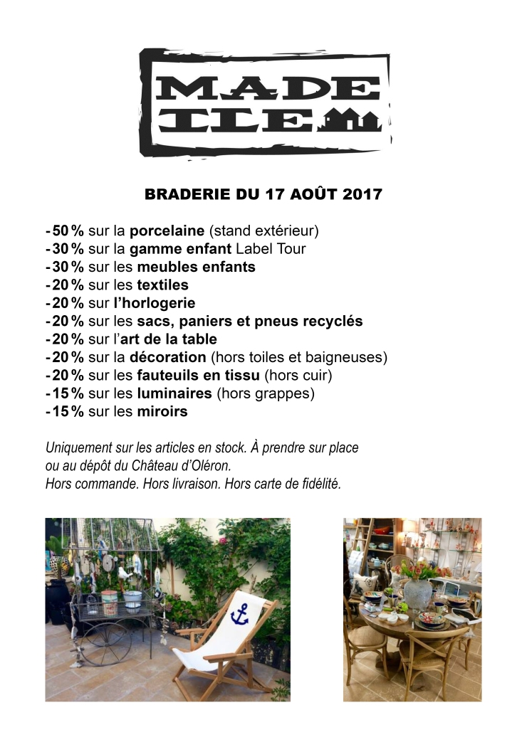 MADE ILE BRADERIE 17 AOUT 2017