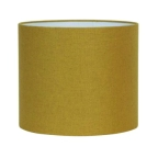 Made Ile Abat jour tissu rond jaune moutarde 2235824 LL - 35x30cm
