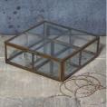 Made Ile Boite verre laiton compartiments 20842 Ch - 6x14x14cm
