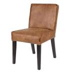 Made Ile Decoration Ile d'Oleron - Chaise cuir cognac 378614-B DBP