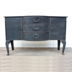 Made Ile Decoration Ile d'Oleron - Commode baroque metal noir 3 tir 11160 Ch - 78x48x124cm