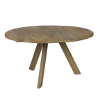 Made Ile Decoration Ile d'Oleron - Table ronde bois 800596-N DBP - 140cm