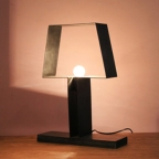 Made Ile Lampe metal noir 21605 Ch - 45x35x10cm