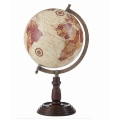 Made Ile Map monde ecru marron 76344 76345 J - 38ou50cm