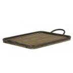 Made Ile Plateau bois metal rectangle 6406784 LL - 51x31cm SITE