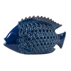 Made Ile Poisson cobalt ceramique 011158 SP - 36x20cm SITE